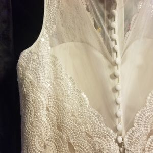 Champagne/off white wedding dress